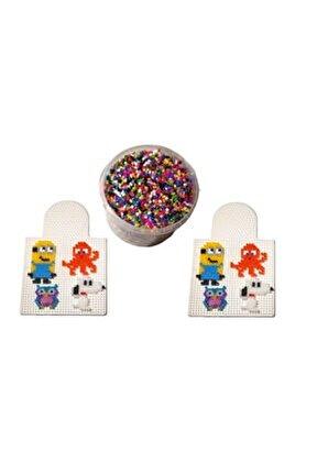 12.000 Adet Boncuk Ütü Ile Yapışan Hama Tipi Boncuk + 2 Adet 5mm-dizme Kalıbı