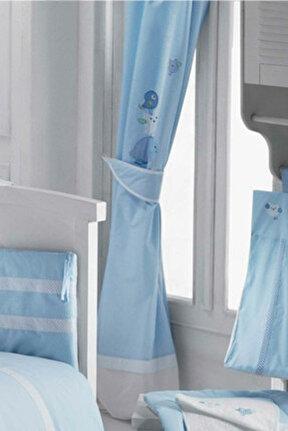 Animals Blue Bebek Odası Perdesi /