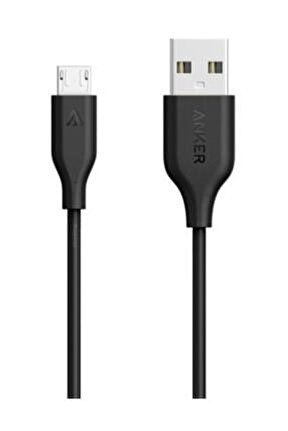 PowerLine Micro USB Şarj/ Data Kablosu 0.9 Metre - Siyah