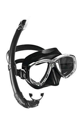 Perla Maske Mexico Şnorkel Seti BLACK
