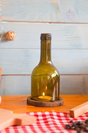 Winy Küçük Şişe Mumluk - Venge Renkli
