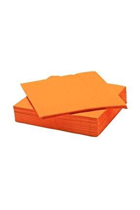 Kağıt Peçete Düz Renkli 20 Adet - Turuncu