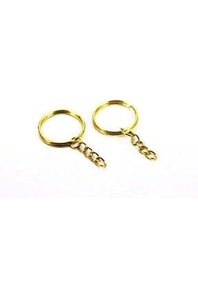 Anahtarlık Halkası Zincirli  4 cm  Altın