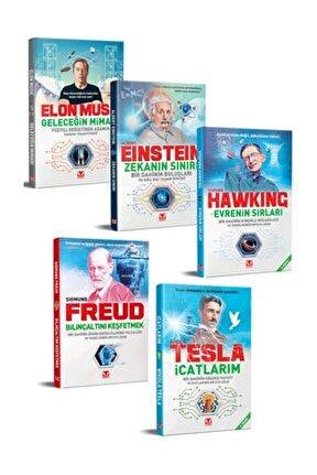 Yüzyılın Dahileri Kitap Seti  / Tesla, Einstein, Elon Musk, Hawking, Sigmund Freud