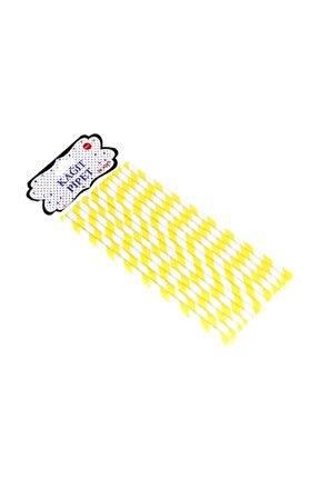 Pipet Kağıt Spiral Modeli (25 Adet)  Sarı