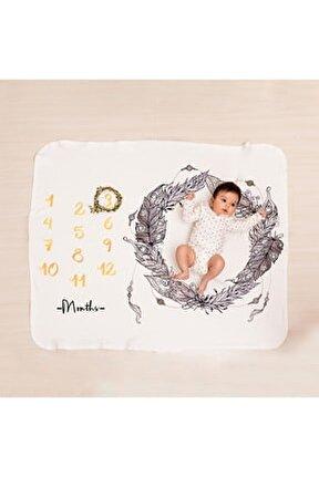 Etnik Tüy Doğum Hediyesi Bebek Fotoğraf Battaniyesi