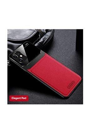 Apple Iphone 11 Kılıf Zebana Lens Deri Kılıf Kırmızı