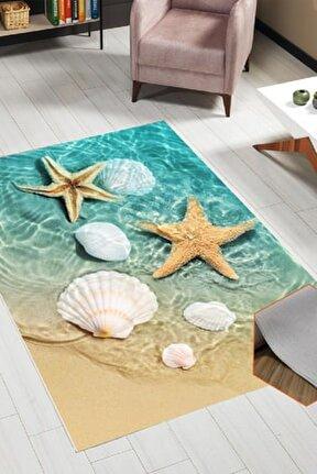 Deniz Yıldızı Dekoratif Yıkanabilir Halı
