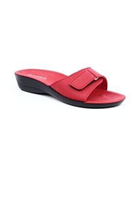 Siena-4 Kırmızı Ortapedik Bayan Terlik & Sandalet