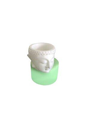 Buddha Kafası Heykeli Tealight Mum Silikon Kalıbı