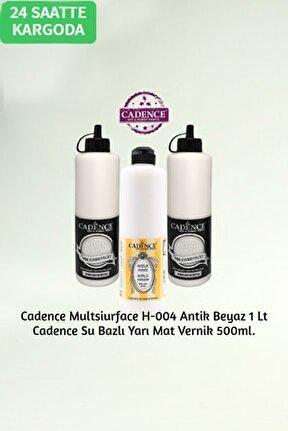 Hybrid Multisurface H-004 Antik Beyaz 1 Litre + Su Bazlı Yarı Mat Vernik 500ml.