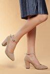 Vizon-Süet Kadın Klasik Topuklu Ayakkabı DXTRSWMNYK715