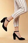 Siyah-Süet Kadın Klasik Topuklu Ayakkabı DXTRSWMNYK715