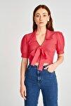 Nar Çiçeği Bağlama Detaylı Bluz TWOSS20BZ0717