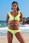 Kadın Fırfır Detaylı Bikini  Alt 209202 Neon Sarı