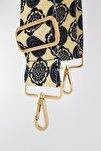 Haleh Etnik Desenli Çanta Askısı Gold Metal