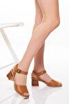 Hakiki Deri Kadın 5cm Sandalet