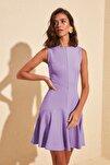 Lila Fermuar Detaylı Elbise TWOSS20EL1124