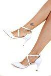 Beyaz Kadın Topuklu Ayakkabı D654054809