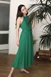 Yeşil Kuşaklı Elbise TWOSS19EL0155