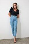 Açık Mavi Yüksek Bel Mom Jeans TWOSS20JE0108