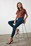 Lacivert Yüksek Bel Skinny Jeans TWOSS20JE0301
