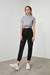 Siyah Yüksek Bel Mom Jeans TWOSS20JE0108