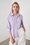 Lila Liyosel Denim Gömlek TWOAW20GO0445
