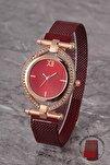 Plkhm011r04 Kadın Saat Taşlı Döner Kadran Mıknatıslı Hasır Kordon