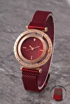 Plkhm012r07 Kadın Saat Çizgili Döner Kadran Mıknatıslı Hasır Kordon
