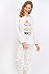 Kadın Krem Night Princess Pijama Takımı
