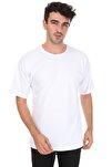 Düz Beyaz Oversize Unisex T-shirt