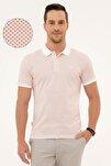 Erkek Turuncu Slim Fit Polo Yaka T-Shirt