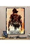 Days Gone Gamer Tasarım 15x21cm Hediyelik Dekoratif 8mm Ahşap Tablo