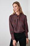 Kırmızı Bağlama Detaylı Bluz TWOAW20BZ0672