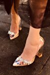 Princess Şeffaf Nude Kadın Topuklu Ayakkabı