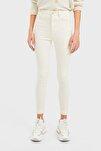 Kadın Vanilya Rengi Süper Yüksek Bel Pantolon 01120819