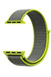 Apple Watch Dokuma Kordon Kayış 7 - 6 - Se - 5 - 4 - 3 - 2 - 1 42mm 44mm - Neon Yeşili Gri