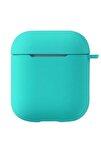 Airpods 2. Nesil Uyumlu Pastel Renkli Silikon Koruma Kopçalı Kılıf