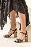 GOLETAA Siyah Kadın Sandalet