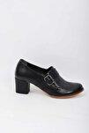 Hakiki Deri Bayan Klasik Topuklu Ayakkabı