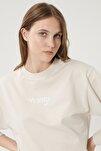 Kadın Taş Regular Fit %100 Pamuk Sıfır Yaka Sweatshirt