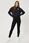 Kadın Siyah High Rise Skinny Fit Denim Esnek Yüksek Bel Jean Kot Pantolon