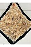 Kadın Kahverengi  Ipek Eşarp 8185