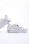 Kadın Kalın Taban Sneaker Spor Ayakkabı Aportebeyaz