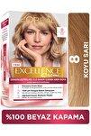 Excellence Creme Saç Boyası 8 Koyu Sarı