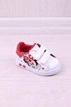 Çocuk Antibakteriyel Ortopedik Mickey Mouse Baskılı Ilk Adım Ayakkabı