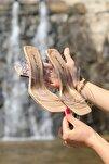 Kadın Nude Cilt Şeffaf Kadın Topuklu Ayakkabı