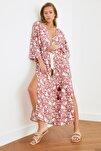 Renkli Çiçek Desenli Kimono&Kaftan TBESS20KM0051