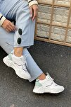 Kadın Ön Kısım Delik Kenardan Ince Şerit Detaylı Sneaker
